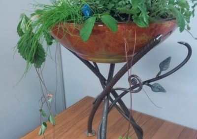 Vine with Glass Herb Bowl - GP19